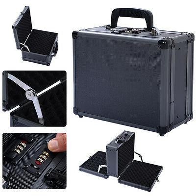 Costway Double Locking Handgun Box Gun Case Pistol Hard Carr