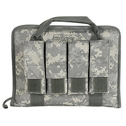 VooDoo Tactical 25-0017075000 Pistol Case With Mag Pouches,