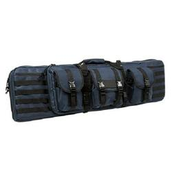 """Tactical Black 42"""" Padded Carbine Double Rifle Gun Case Back"""