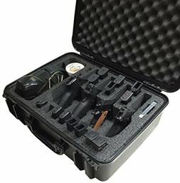 Case Club Waterproof 4 Pistol Case with Accessory Pocket Sil