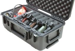 Case Club Waterproof 6 Pistol Case with Accessory Pocket & S